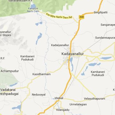 satellite map image of Kadayanallur( Kadayanallur,tamilnadu செயற்கைக்கோள் வரைபடம் படம்)