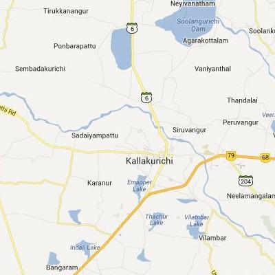 satellite map image of Kallakkurichchi( Kallakkurichchi,tamilnadu செயற்கைக்கோள் வரைபடம் படம்)