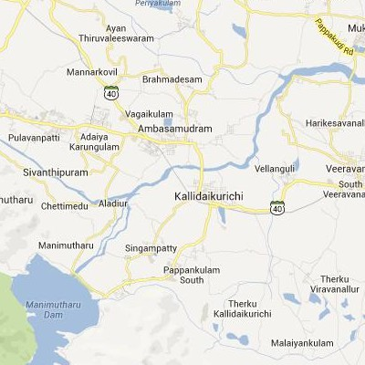 satellite map image of Kallidaikurichchi( Kallidaikurichchi,tamilnadu செயற்கைக்கோள் வரைபடம் படம்)