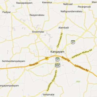 satellite map image of Kangayam( Kangayam,tamilnadu செயற்கைக்கோள் வரைபடம் படம்)