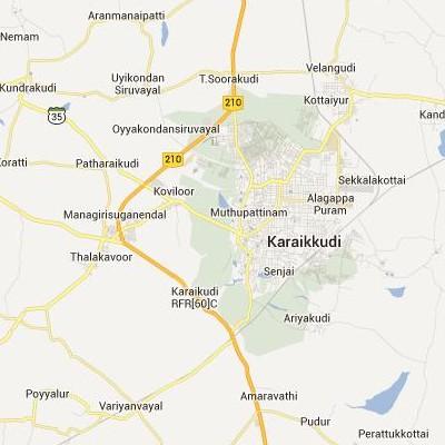 satellite map image of Karaikkudi( Karaikkudi,tamilnadu செயற்கைக்கோள் வரைபடம் படம்)