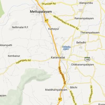 satellite map image of Karamadai( Karamadai,tamilnadu செயற்கைக்கோள் வரைபடம் படம்)