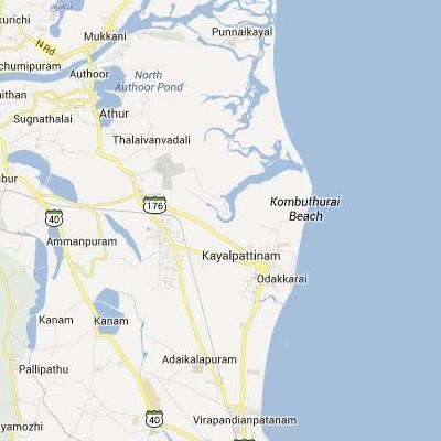 satellite map image of Kayalpattinam( Kayalpattinam,tamilnadu செயற்கைக்கோள் வரைபடம் படம்)