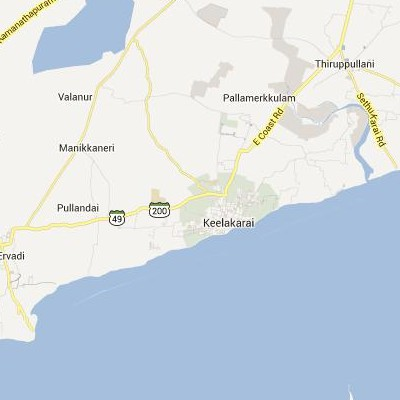 satellite map image of Keelakarai( Keelakarai,tamilnadu செயற்கைக்கோள் வரைபடம் படம்)