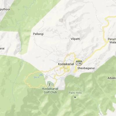 satellite map image of Kodaikanal( Kodaikanal,tamilnadu செயற்கைக்கோள் வரைபடம் படம்)