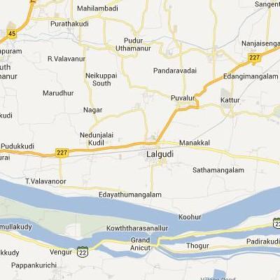 satellite map image of Lalgudi( Lalgudi,tamilnadu செயற்கைக்கோள் வரைபடம் படம்)