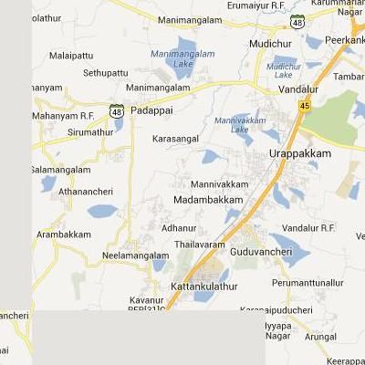 satellite map image of Madambakkam( Madambakkam,tamilnadu செயற்கைக்கோள் வரைபடம் படம்)