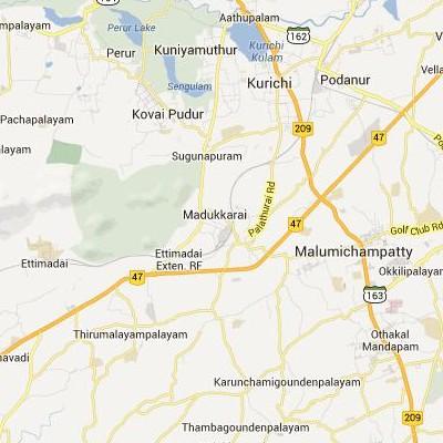 satellite map image of Madukkarai( Madukkarai,tamilnadu செயற்கைக்கோள் வரைபடம் படம்)
