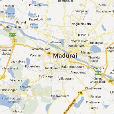 satellite map image of Madurai( Madurai,tamilnadu செயற்கைக்கோள் வரைபடம் படம்)