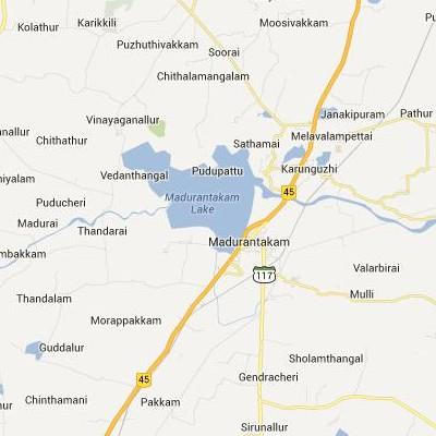satellite map image of Madurantakam( Madurantakam,tamilnadu செயற்கைக்கோள் வரைபடம் படம்)