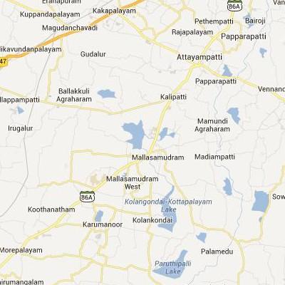 satellite map image of Mallasamudram( Mallasamudram,tamilnadu செயற்கைக்கோள் வரைபடம் படம்)