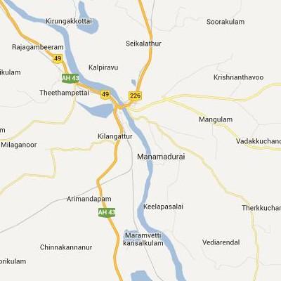 satellite map image of Manamadurai( Manamadurai,tamilnadu செயற்கைக்கோள் வரைபடம் படம்)
