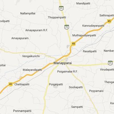 satellite map image of Manapparai( Manapparai,tamilnadu செயற்கைக்கோள் வரைபடம் படம்)