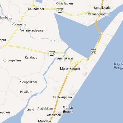 satellite map image of Marakkanam( Marakkanam,tamilnadu செயற்கைக்கோள் வரைபடம் படம்)