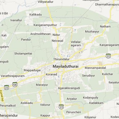 satellite map image of Mayiladuthurai( Mayiladuthurai,tamilnadu செயற்கைக்கோள் வரைபடம் படம்)