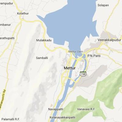 satellite map image of Mettur( Mettur,tamilnadu செயற்கைக்கோள் வரைபடம் படம்)