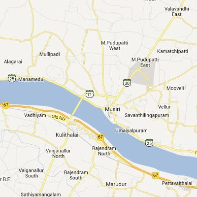 satellite map image of Musiri( Musiri,tamilnadu செயற்கைக்கோள் வரைபடம் படம்)