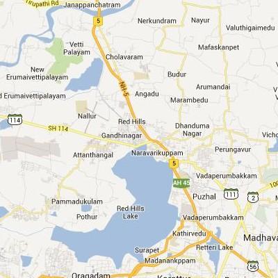 satellite map image of Naravarikuppam( Naravarikuppam,tamilnadu செயற்கைக்கோள் வரைபடம் படம்)
