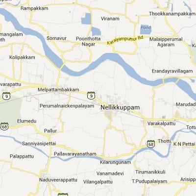 satellite map image of Nellikkuppam( Nellikkuppam,tamilnadu செயற்கைக்கோள் வரைபடம் படம்)