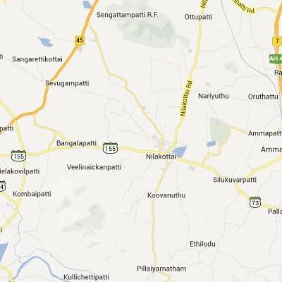 satellite map image of Nilakottai( Nilakottai,tamilnadu செயற்கைக்கோள் வரைபடம் படம்)