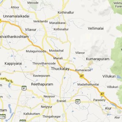 satellite map image of Padmanabhapuram( Padmanabhapuram,tamilnadu செயற்கைக்கோள் வரைபடம் படம்)
