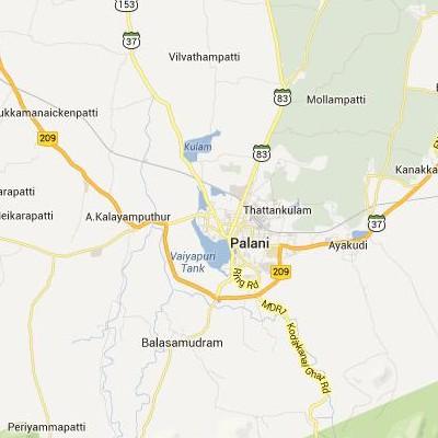satellite map image of Palani( Palani,tamilnadu செயற்கைக்கோள் வரைபடம் படம்)