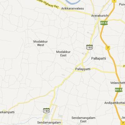 satellite map image of Pallappatti( Pallappatti,tamilnadu செயற்கைக்கோள் வரைபடம் படம்)