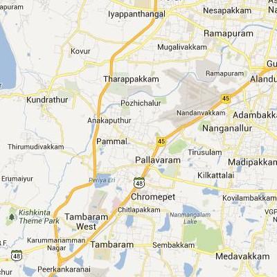 satellite map image of Pallavaram( Pallavaram,tamilnadu செயற்கைக்கோள் வரைபடம் படம்)