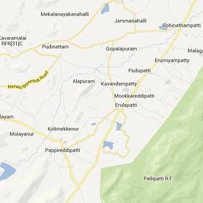 satellite map image of Pallippatti( Pallippatti,tamilnadu செயற்கைக்கோள் வரைபடம் படம்)