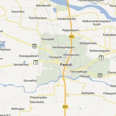 satellite map image of Panruti( Panruti,tamilnadu செயற்கைக்கோள் வரைபடம் படம்)