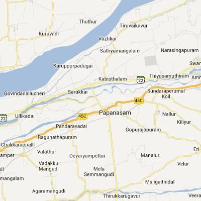 satellite map image of Papanasam( Papanasam,tamilnadu செயற்கைக்கோள் வரைபடம் படம்)