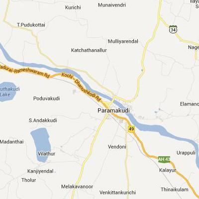 satellite map image of Paramagudi( Paramagudi,tamilnadu செயற்கைக்கோள் வரைபடம் படம்)