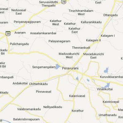 satellite map image of Peravurani( Peravurani,tamilnadu செயற்கைக்கோள் வரைபடம் படம்)