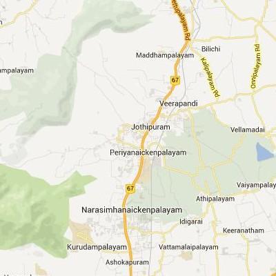 satellite map image of Periyanayakkanpalaiyam( Periyanayakkanpalaiyam,tamilnadu செயற்கைக்கோள் வரைபடம் படம்)
