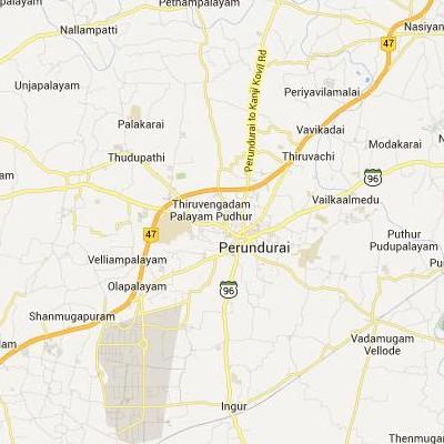 satellite map image of Perundurai( Perundurai,tamilnadu செயற்கைக்கோள் வரைபடம் படம்)