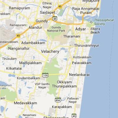 satellite map image of Perungudi( Perungudi,tamilnadu செயற்கைக்கோள் வரைபடம் படம்)