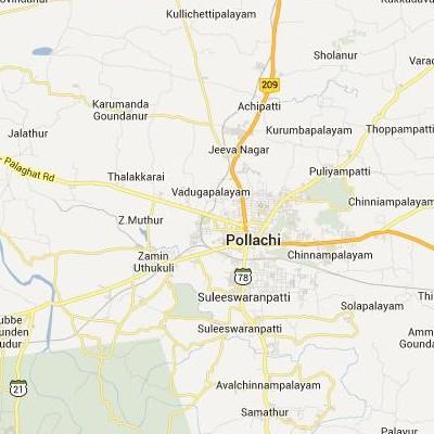 satellite map image of Pollachi( Pollachi,tamilnadu செயற்கைக்கோள் வரைபடம் படம்)