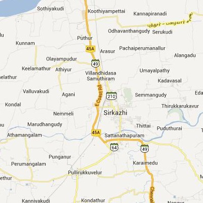 satellite map image of Sirkazhi( Sirkazhi,tamilnadu செயற்கைக்கோள் வரைபடம் படம்)