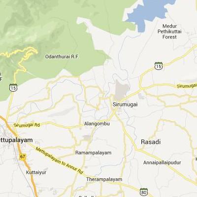satellite map image of Sirumugai( Sirumugai,tamilnadu செயற்கைக்கோள் வரைபடம் படம்)