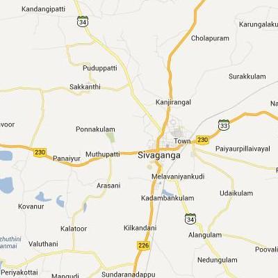 satellite map image of Sivaganga( Sivaganga,tamilnadu செயற்கைக்கோள் வரைபடம் படம்)