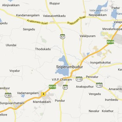 satellite map image of Sriperumbudur( Sriperumbudur,tamilnadu செயற்கைக்கோள் வரைபடம் படம்)