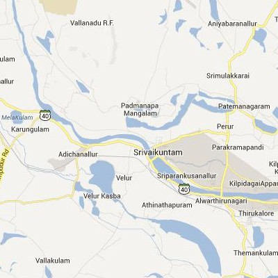 satellite map image of Srivaikuntam( Srivaikuntam,tamilnadu செயற்கைக்கோள் வரைபடம் படம்)