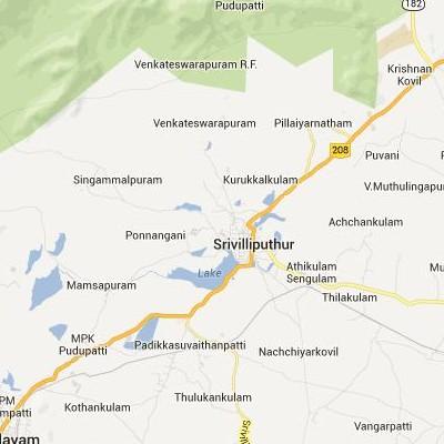 satellite map image of Srivilliputhur( Srivilliputhur,tamilnadu செயற்கைக்கோள் வரைபடம் படம்)