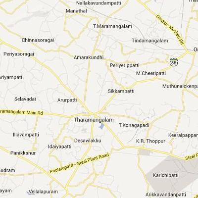 satellite map image of Taramangalam( Taramangalam,tamilnadu செயற்கைக்கோள் வரைபடம் படம்)