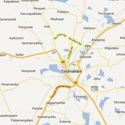 satellite map image of Tindivanam( Tindivanam,tamilnadu செயற்கைக்கோள் வரைபடம் படம்)