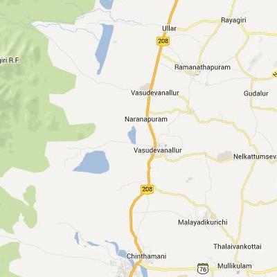 satellite map image of Vasudevanallur( Vasudevanallur,tamilnadu செயற்கைக்கோள் வரைபடம் படம்)