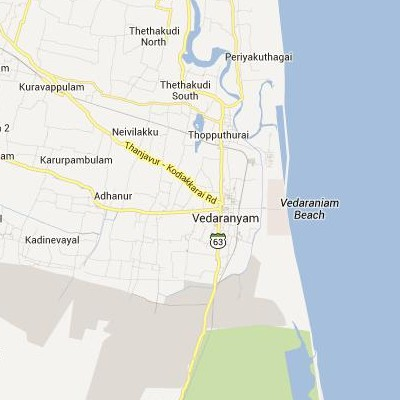 satellite map image of Vedaraniyam( Vedaraniyam,tamilnadu செயற்கைக்கோள் வரைபடம் படம்)