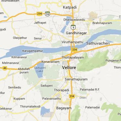 satellite map image of Vellore( Vellore,tamilnadu செயற்கைக்கோள் வரைபடம் படம்)