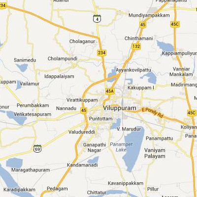 satellite map image of Villupuram( Villupuram,tamilnadu செயற்கைக்கோள் வரைபடம் படம்)