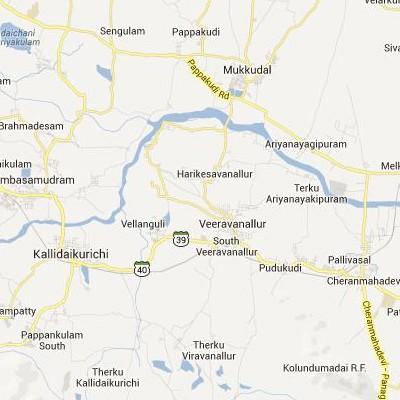 satellite map image of Viravanallur( Viravanallur,tamilnadu செயற்கைக்கோள் வரைபடம் படம்)